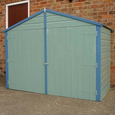 3 x 7 (1.03 x 2.12m) Shire Shiplap Bike Storage - With Floor