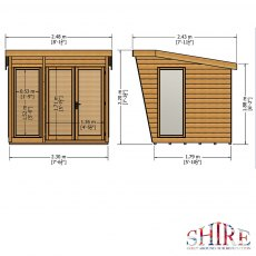 Shire 8 x 6 (2.3m x 1.8m) Shire Highclere Summerhouse