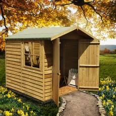 Shire 7 x 7 (1.98m x 2.05m) Shire Overlap Pressure Treated Shed - Double Door