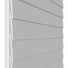 Shire 10 x 7 (2.97m x 2.05m) Shire Overlap Pressure Treated Shed - Double Door