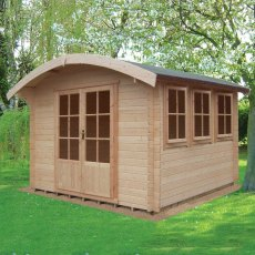 12G x 12 (3.59m x 3.59m) Shire Kilburn Log Cabin (28mm Logs) - Quick Delivery