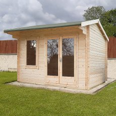 10G x 12 (2.99m x 3.59m) Shire Marlborough Log Cabin (28mm Logs) - Quick Delivery