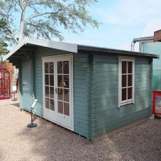 14G x 8 (4.19m x 2.39m) Shire Bourne Log Cabin (28mm Logs) - Quick Delivery