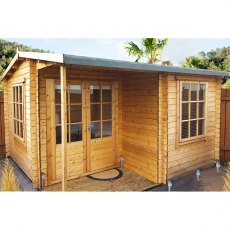12G x 18 (3.59m x 5.34m) Ringwood Log Cabin (28mm logs) - Quick Delivery