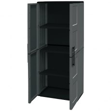Shire 2 x 1 (0.7m x 0.39m) Shire Large Plastic Storage Cupboard with Shelves