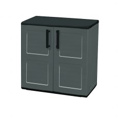 Shire 2 x 1 (0.7m x 0.39m) Shire Mid Height Plastic Storage Cupboard with Shelves