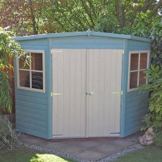 8 x 8 Shire Tongue and Groove Corner Shed - Pressure Treated - diagram of dimensions