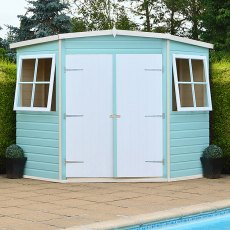 10 x 10 (2.99m x 2.99m) Shire Tongue and Groove Corner Shed