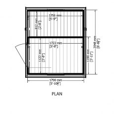 7 x 6 Shire Shed and Log Store floor plan