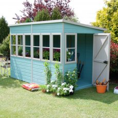 10 x 6 (3.04m x 1.79m) Shire Sun Pent Shiplap Potting Shed