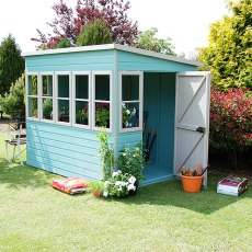 8 x 8 (2.44m x 2.39m) Shire Sun Pent Shiplap Potting Shed