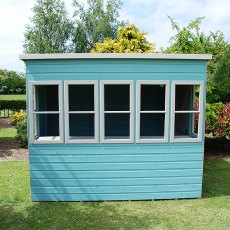 8 x 8 Shire Sun Pent Shiplap Potting Shed - front view