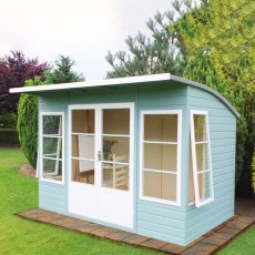 10 x 6 Shire Orchid Summerhouse - Painted with windows open
