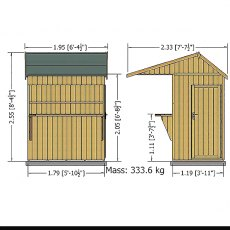 Shire 6 x 4 (1.79m x 1.19m) Shire Garden Bar and Store