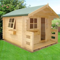 6 x 7 (1.79m x 2.09m) Shire Salcey Log Cabin Playhouse