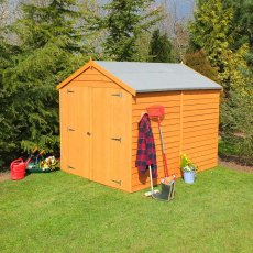 8 x 6 (2.44m x 1.86m) Shire Overlap Windowless Shed with Double Doors