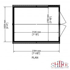 8 x 6 Overlap Windowless Shed with Double Door - Base plan
