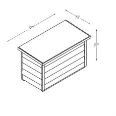 Forest 3 x 2 (0.99m x 0.48m) Forest Garden Storage Box - Dip Treated