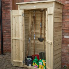 3 x 2 (0.99m x 0.48m) Forest Pent Tall Garden Store - Pressure Treated