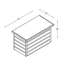 Forest 3 x 2 (0.98m x 0.47m) Forest Shiplap Garden Storage Box - Pressure Treated