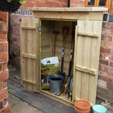 3 x 2 (0.99m x 0.47m) Forest Shiplap Pent Garden Store - Pressure Treated