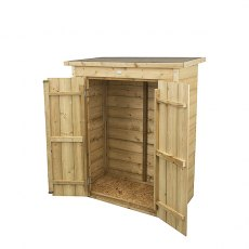 Forest 3 x 2 (0.99m x 0.47m) Forest Shiplap Pent Garden Store - Pressure Treated