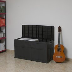 Forest Garden 4 x 2 (1.19m x 0.46m) Forest 320L Multi-purpose Plastic Storage Box (Black)