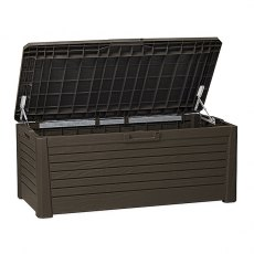 Forest 5 x 2 (1.48m x 0.72m) Forest 550L Large Wood Effect Plastic Garden Storage Box (Brown)