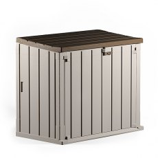 Forest Garden 4 x 2 (1.30m x 0.75m) Forest Large Plastic Garden Storage Box (Grey and Taupe)