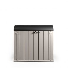 Forest 4 x 2 (1.30m x 0.75m) Forest Premium Large Plastic Garden Storage Box (Grey and Anthracite)