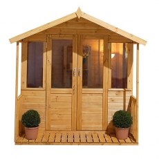 7 x 7 (2.02m x 1.98m) Forest Maplehurst Shiplap Summerhouse