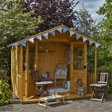 8 x 8 (2.24m x 2.50m) Forest Hollington Shiplap Summerhouse
