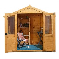 7 x 5 (2.04m x 1.51m) Forest Barleywood Summerhouse