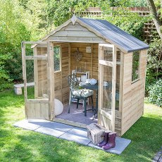 7 x 5 (2.07m x 1.44m) Forest Oakley Summerhouse - Pressure Treated