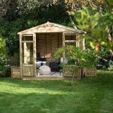 8 x 6 (2.46m x 1.91m) Forest Oakley Summerhouse - Pressure Treated