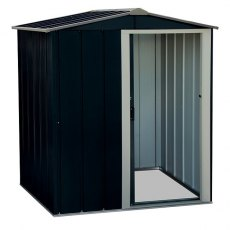 5 x 4 (1.52m x 1.12m) Sapphire Apex Metal Shed in Anthracite Grey