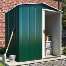 Sapphire 5 x 4 (1.52m x 1.12m) Sapphire Apex Metal Shed in Green