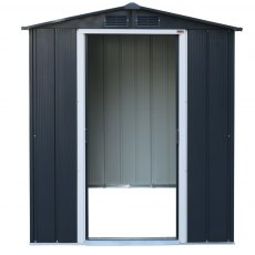 Sapphire 6 x 6 (1.92m x 1.72m) Sapphire Apex Metal Shed in Anthracite Grey