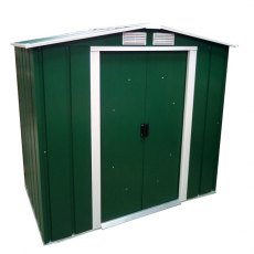 Sapphire 6 x 6 (1.92m x 1.72m) Sapphire Apex Metal Shed in Green