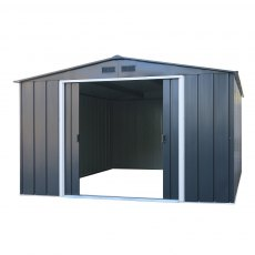 Sapphire 10 x 8 (3.12m x 2.32m) Sapphire Apex Metal Shed in Anthracite Grey