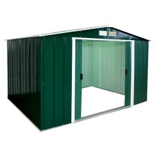 Sapphire 10 x 8 (3.12m x 2.32m) Sapphire Apex Metal Shed in Green