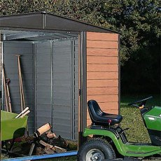 Rowlinson Garden Products 10 x 12 (3.13m x 3.70m) Rowlinson Woodvale Metal Shed