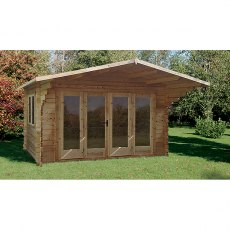 Forest 13G x 10 (4.00m x 3.00m) Forest Abberley Log Cabin 34mm Logs