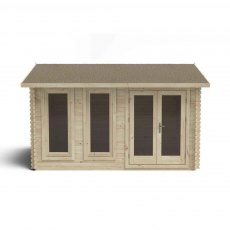 13G x 10 (4.00m x 3.00m) Forest Chiltern Log Cabin 34mm Logs
