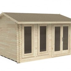 13 x 10 Forest Chiltern Log Cabin - 3/4 view