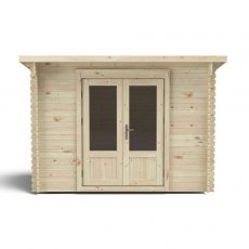 7G x 10 (2.00m x 3.00m) Forest Harwood Pent Log Cabin (28mm Logs)