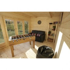 Forest 10G x 13 (3.00m x 4.00m) Forest Melbury Pent Log Cabin 44mm Logs
