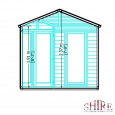 8x8 Shire Larkspur Corner Summerhouse - internal dimensions