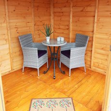 8x8 Shire Larkspur Corner Summerhouse - internal