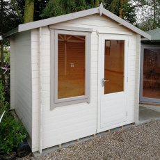 8G x 8 (2.39m x 2.39m) Shire Peckover Log Cabin (19mm Logs)